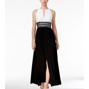 R&M Richard Sleeveless Embellished Gown